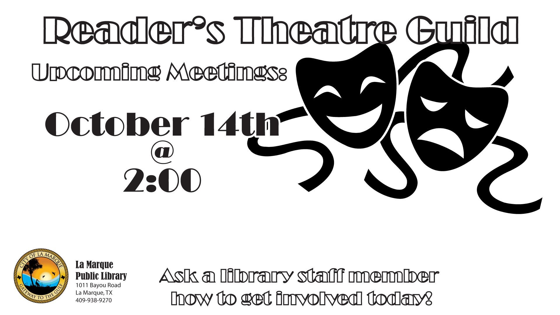 Readers Theatre television october