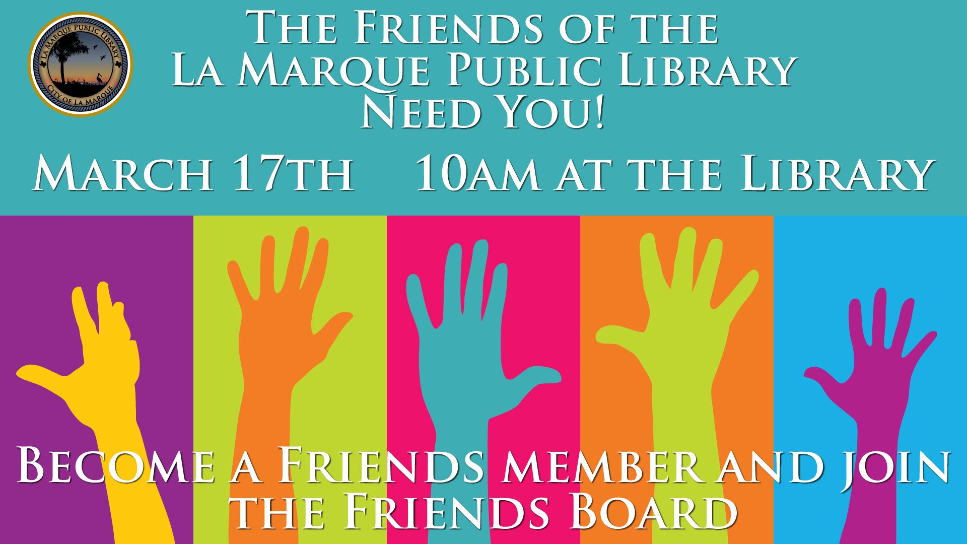 Friends volunteers march