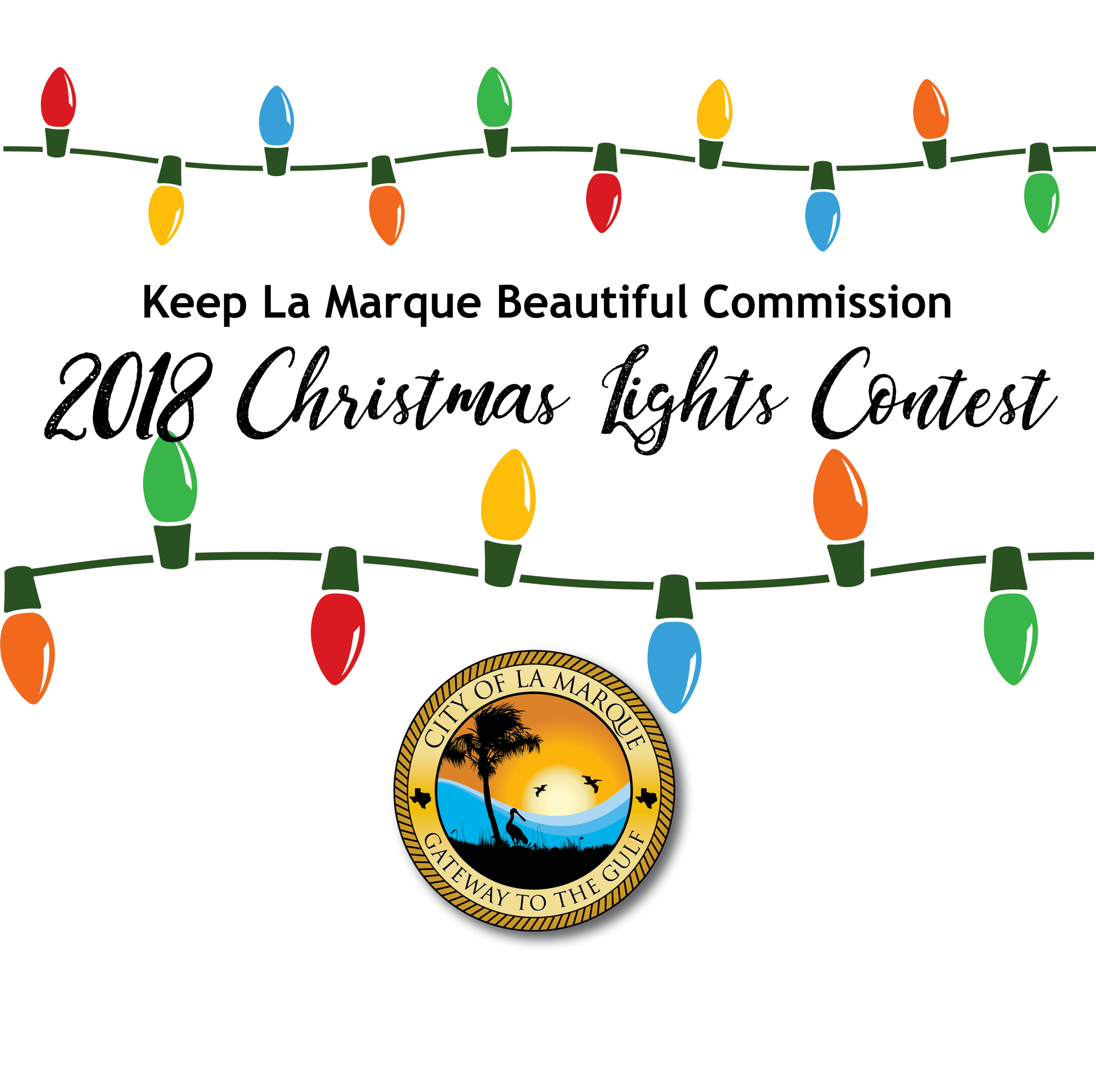 2018 Christmas lights contest graphic