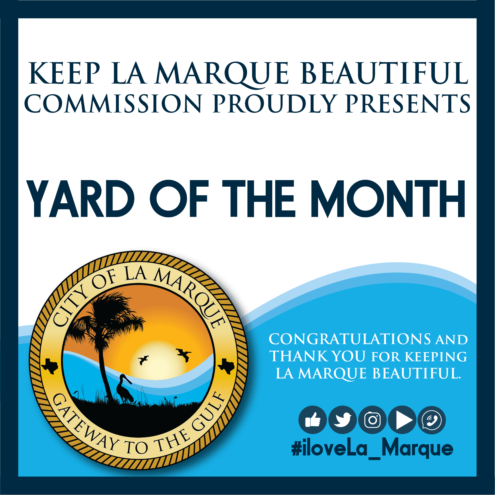 Yard Sign for Yard of the Month winners