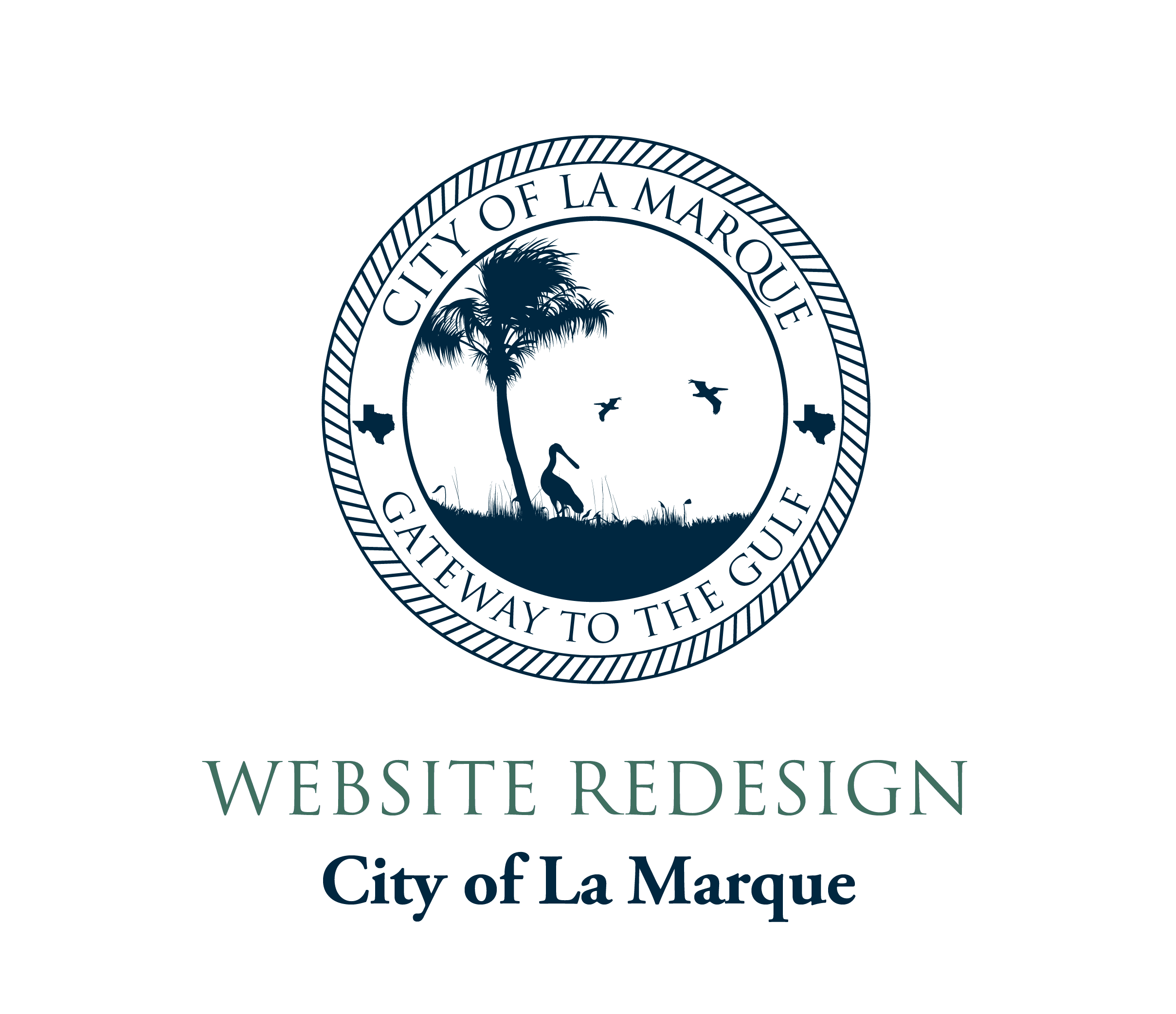 New Website graphic with one color city logo