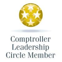 Gold status leadership circle award icon