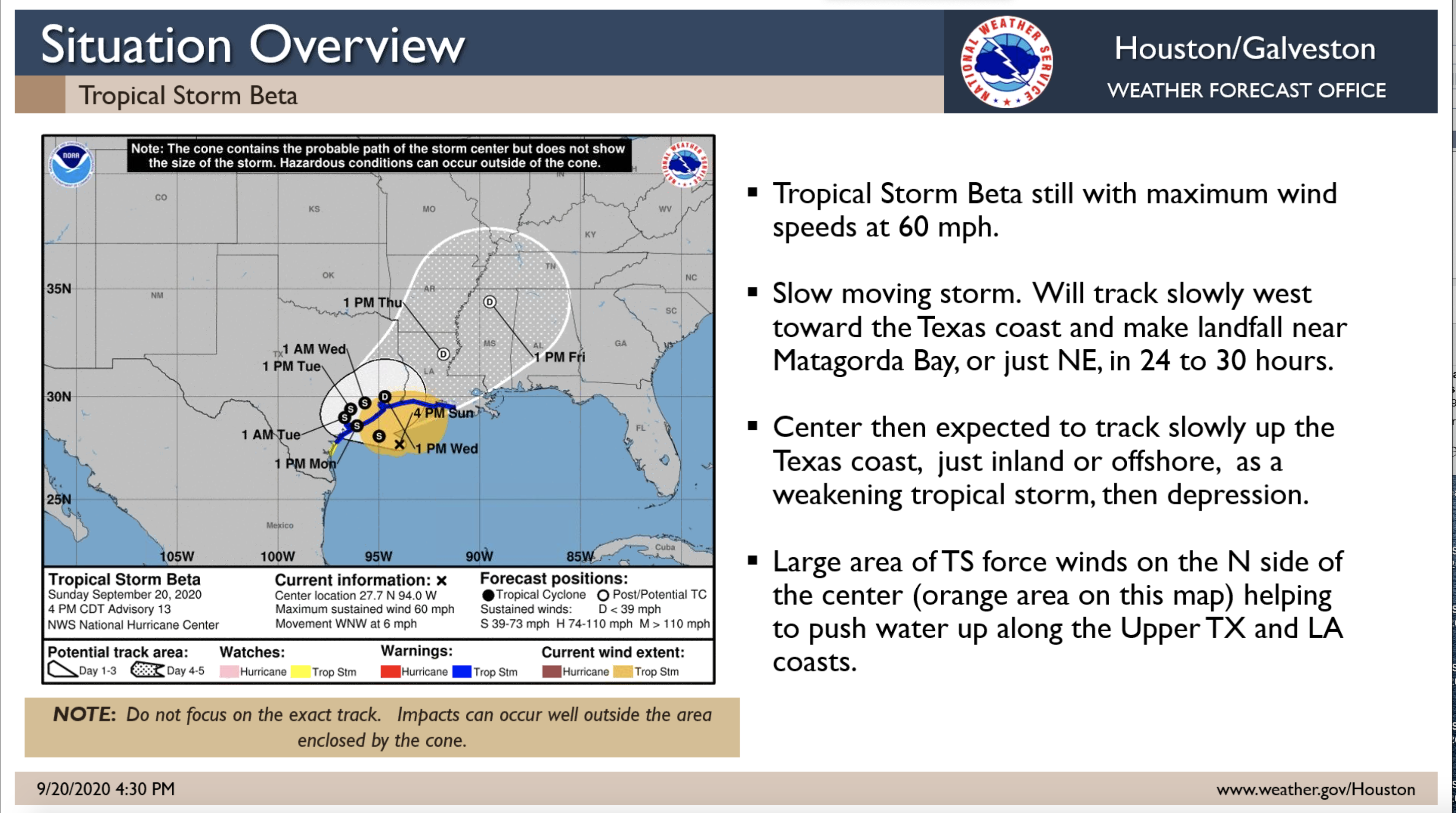Tropical Storm Beta Sunday PM update_1