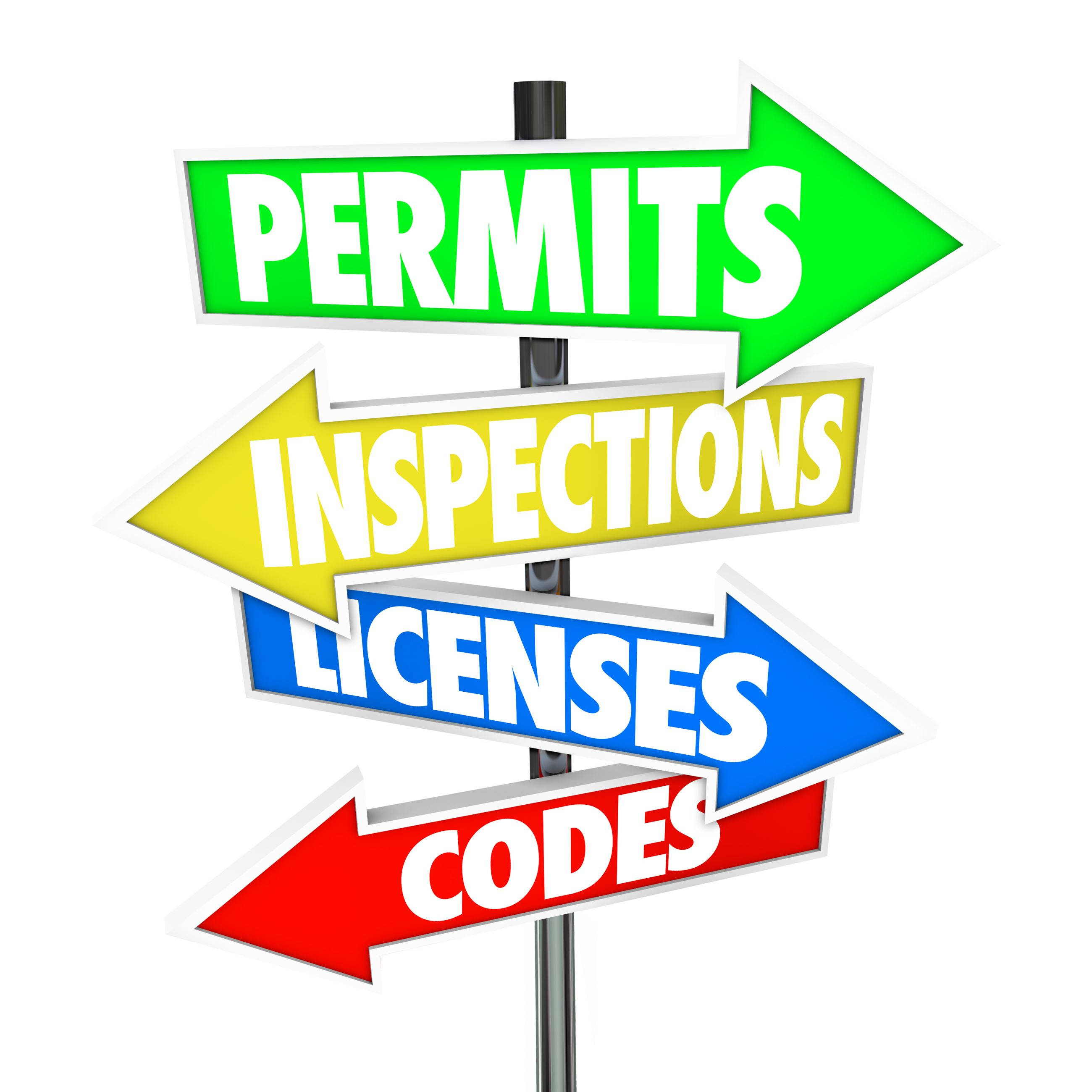 Directional permit sign