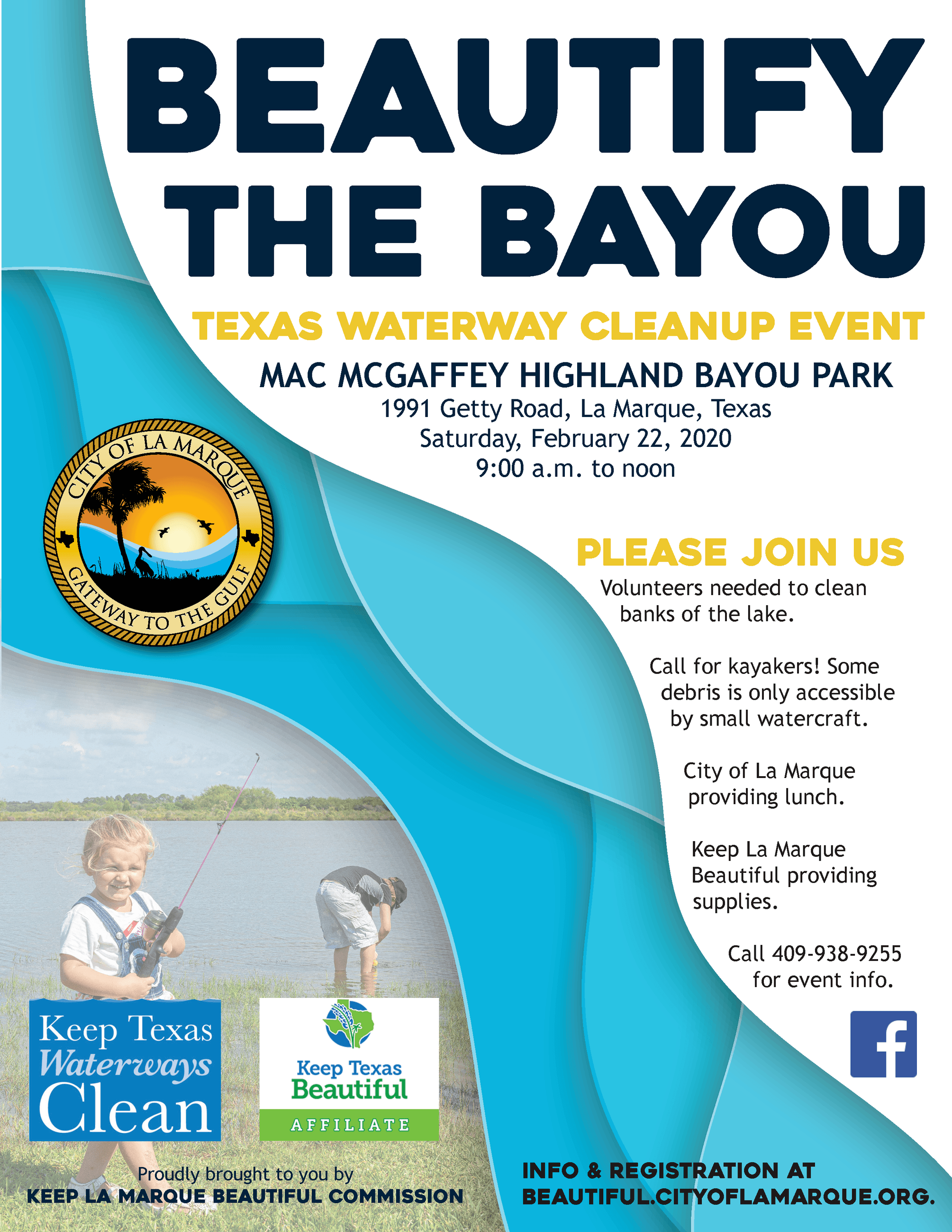 Beautify the Bayou event flyer