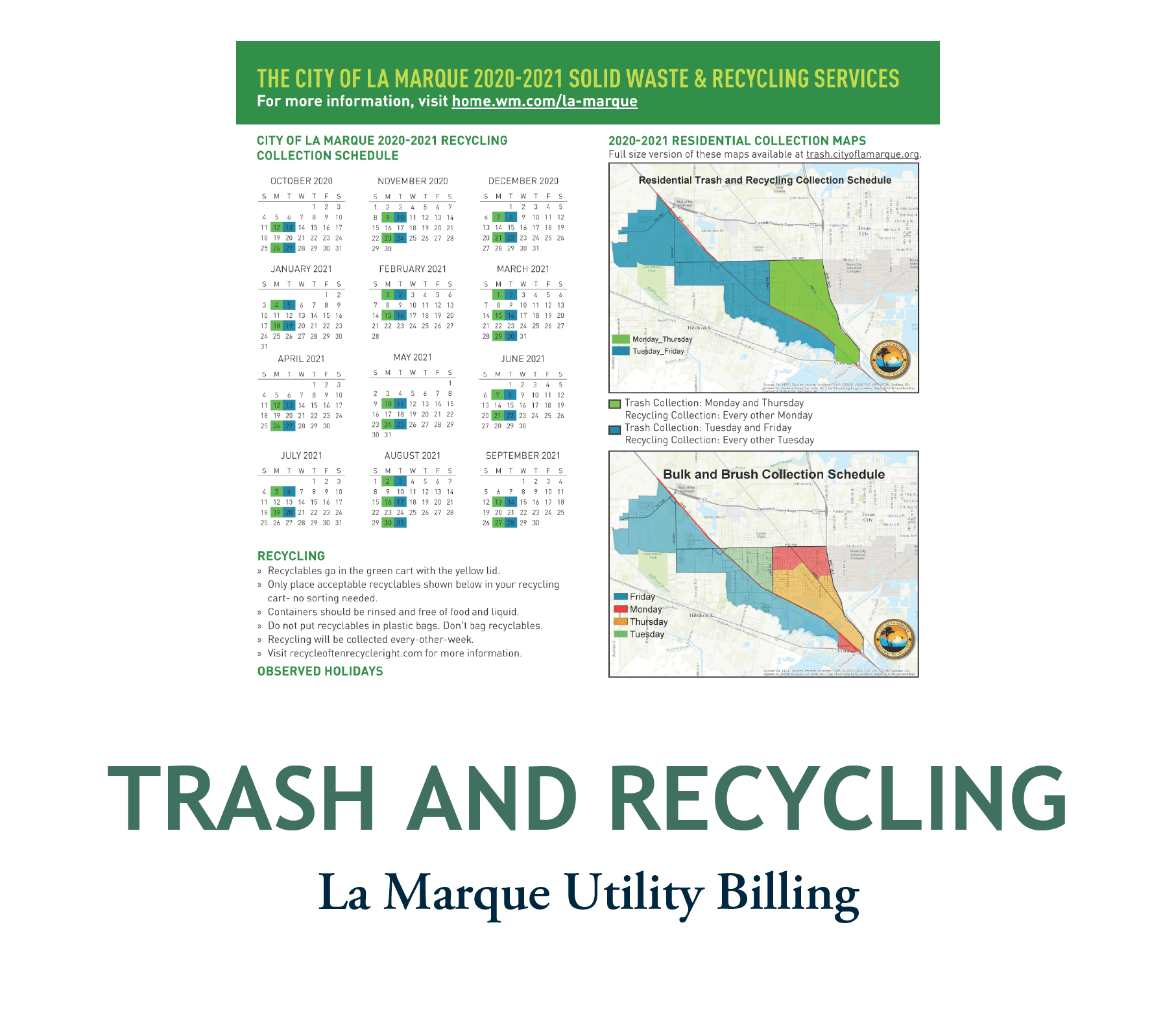 La-Marque-2020-2021-Trash-and-Recycling-Schedule