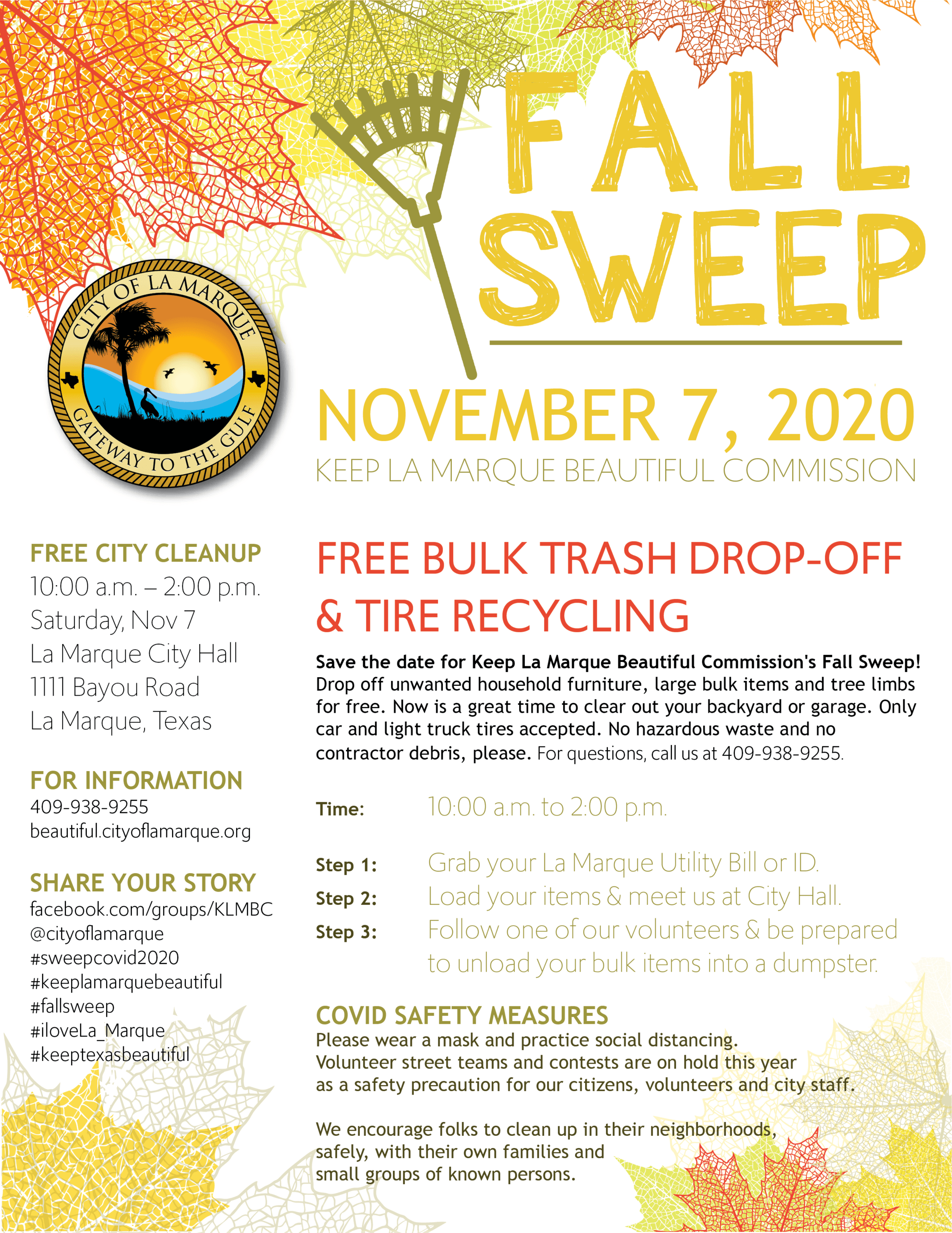 2020 Fall Sweep Event Flyer