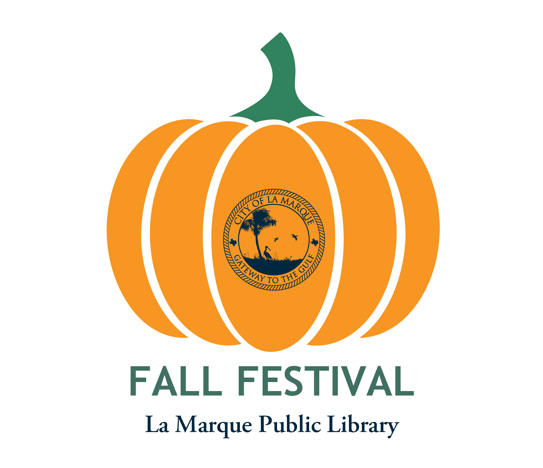 Fall Festival 2020 graphic with pumpkin and city logo